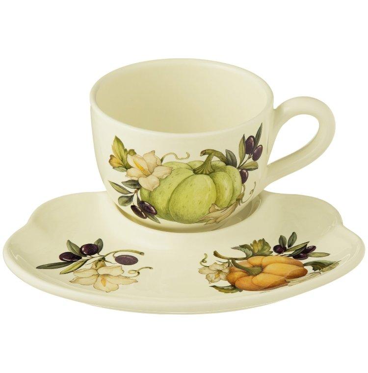 Чайная пара букет цветов 500мл 0022, цветы оптом